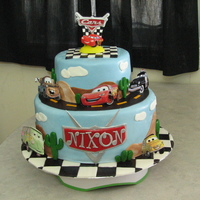 Cars   Disney Cars cake for a friends son. Happy Birthday Nixon!