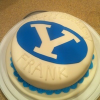 Byu Cougars For my brothers big 40th birthday. BYU alum.. and we ate it after the big win against UW... which was their only win this season so far...