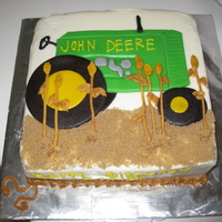 John Deere Carrot cake and decorators cream cheese frosting
