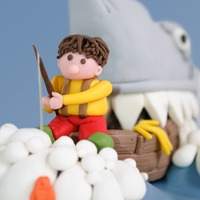 Shark Attack! Request was to make a cake with a summer holiday feeling, so a relaxed fishing party should do the job...