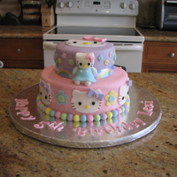 Hello Kitty Birthday Cake & Hello Kitty Cake Pops  This is a Hello Kitty birthday cake that I made for a friend. It's my 5th cake and it was very fun to make! Everything on the cake is...