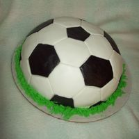 Soccer Ball Soccer ball cake made out of MMF. This was so fun to make!!!