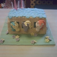 Novelty Birthday Cake For A Little Girl   i did this one for friends little girl and the smile on her face was a picture