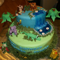 Jungle Safari I made this for twin boys first birthday.
