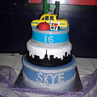 Nyc Cake Cake made for a NYC themed sweet 16 party.