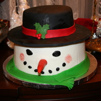 Snowman With Top Hat Cake :) Snowman cake I did for my sisters birthday. The bottom is butter cream and the top part of the cake is covered in fondant. I just put the...