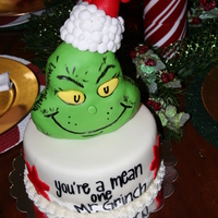 The Grinch Christmas Cake Cake my niece and I did for my sisters Christmas party. The grinch is RKT and we ran out of time so we threw the cake together! Thanks for...