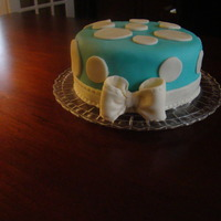My Second Cake For my second cake, I went wild and crazy and attempted a bow! ;)