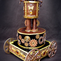 Steampunk Cake This is my labor of love for the steampunk cake contest. I LOVE the steampunk style and have been immersed in the culture for years now. It...