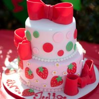 Strawberry Shortcake Cake Original cake design by the amazing SpringLakeCake. I only did the top two tiers of the original three and used all fondant sans the...