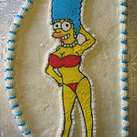 Marge Simpson Playboy centerfold image of Marge Simpson