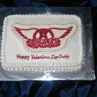Aerosmith Logo Client wanted the Aerosmith logo for her husbands Valentines day cake.