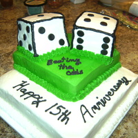 Dice Anniversary For a couple who married in Reno, California. Beating the odds Happy 15th Anniversary.