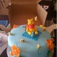 Winnie The Pooh Baby Shower I made this cake for a Baby Shower. Everything made out of Fondant.