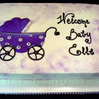 Baby Buggy BC icing, dry-brushed with petal dust, fondant buggy.TFL!