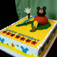 Another Mmch BC icing with sugar-paste and fondant decorations. Thanks mmichelew for posting your cake and tips!