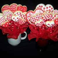 Valentine Cookie Bouquets
