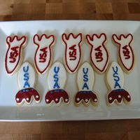 Rocket Cookies Sugar cookies w/ royal icing