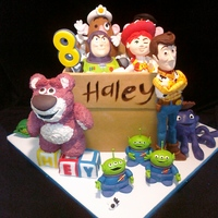 Toy Story 3 toy story 3 cake for 8 y.o. birthday girl. thanks for looking and all the ideas! lotso, potatoes, peas in a pod, & stretch are rkt -...