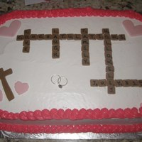 Wedding Scrabble Cake For rehearsal dinner, bride LOVES scrabble!! :)