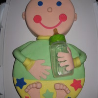 Baby Shower Cake With Bottle