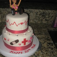 Body Builder And Nurse Bday Cake