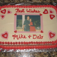 Wedding Rehearsal Dinner Photo Cake