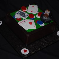 Poker Table With Cigar