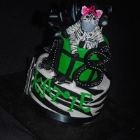 Zebra 18Th Birthday Cake