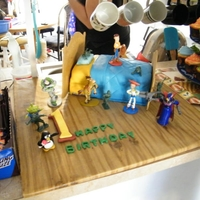 Toy Story Birthday   French vanilla cake, bavarian cream filling, fondant.