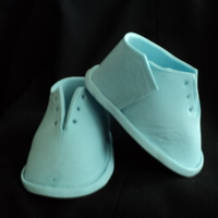 Baby Boy Gum Paste Booties And Converse Sneaker