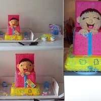 Baby Shower Cake This was a cake I made for my brother and his wife for their new baby boy. They had been waiting to adopt a child for a couple of years and...