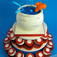 Cat In The Hat - Dr.seuss - Fish Bowl Cupcake Cake!