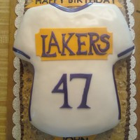 1St Jersey Cake   My first shirt cake & first pic on this site. I am open to any suggestions. Thank you! :)