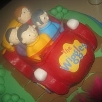 Wiggles Cake This is the Wiggles cake I made for my sons 2nd birthday as he's obsessed! I had planned to do a 2 tier but once i covered the cake i...