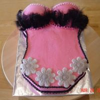 Lingerie Bridal Shower This bridal shower cake is made for a very classy lady who loves feathers & peals.