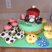 Farm Cake And Cupcakes WASC cake with raspberry filling, bc, and mmf. I was given a picture of what they wanted and this was my own spin on it! I didn't care...