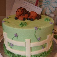 Horse Cake For A Benefit This cake was donated to help a little girl that received a serious head injury during a horse competetion. It is a Vanilla Bean cake with...