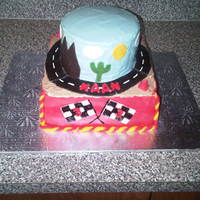 Cars B-Day Cake Red Velvet with cream cheese-nutella filling. Cream cheese frosting and MMF