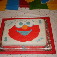 Elmo Cake First fodant cake.