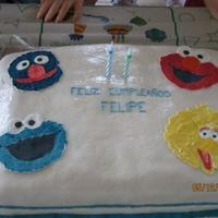 Sesame Street This is my second fondant cake. I made it for my son's second B-day. The major challenge I faced was the weather impact on the fondant...