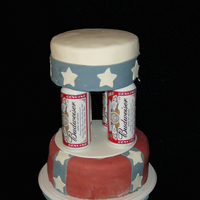 Budwiser Grooms Cake I did this for a Groom that loved the Rebel Flag and Budwiser...so this is what I came up with. This was a very rushed cake, so I didn&#039...