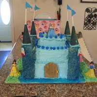 Birthday Castle This is my first castle cake, my daughter turned 4 and wanted a blue castle, I wasn't crazy about how it came out but when my daughter...