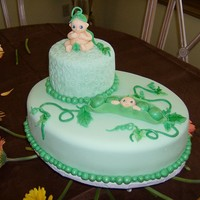 Male Sweet Pea Baby Shower Cake This was the first cake I made involving the sweet pea theme. So the whole idea was for the top cake to be one saved for the child's...