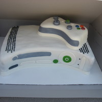 Xbox 360 Grooms Cake Chocolate cherry brownie cake. Chocolate cake with cherries baked in. Dense, brownie like cake. Iced with chocolate buttercream, covered in...