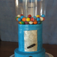 Bubblegum Machine.  Inspired by other CC'rs I decided to make a bubblegum machine for my sons 11th birthday (should I say HE decided I would). Cakes are...