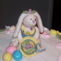 Easter Bunny   Fondant and Gumpaste mix