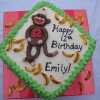Sock Monkey Cake A gluten-free cake for a sock monkey party. Since marshmallow molds sometimes use flour, the cake is primarily decorated with buttercream...