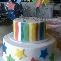 Stars buttercream with fondant accents