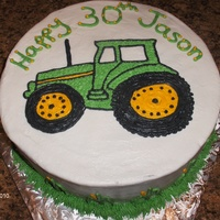 John Deere 30Th Birthday All buttercream. Inspired by many CC cakes.